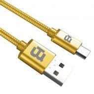CAGMT2M-3 Cable USB BLACKPCS USB A Micro-USB 2 Mts Dorado