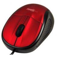 EL-993315 Mouse Óptico Easy Line Alámbrico USB 1000 Dpi 3 Botones Rojo