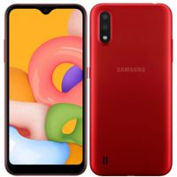 "SAMA01CORD-R Smartphone Samsung Galaxy A01 5.3"" Quad-Core MediaTek MT6739WW 1GB 16GB Android 10 Rojo"