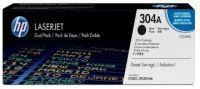 Pack de 2 Cartuchos de Tóner CC530AD HP 304A - Negro - Laserjet - Original (CC530AD)