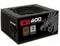 Fuente de Poder Eagle Warrior Ew600 600W ATX 20+4 Pines PW600EW001EGW SATA Molex PCI-Express 80 Plus Bronze