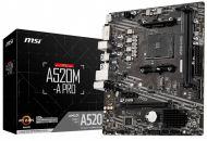 7C96-001R Tarjeta Madre MSI A520M-A PRO Socket AM4 2xDDR4 1866/3200MHz HDMI DVI-D M.2 USB 2.0/3.2 Micro ATX