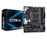90-MXBE70-A0UAYZ Tarjeta Madre ASRock A520M/ac Socket AM4 2xDDR4 2133/4600(OC) MHz HDM Wi-Fi Bluetooth USB 2.0/3.2 Micro ATX