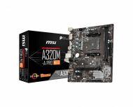 911-7C52-001 Tarjeta Madre MSI A320M-A PRO MAX AM4 2xDDR4 1866/2667/3200 MHz  HDMI DVI-D M.2 USB 2.0/3.2 Micro-ATX