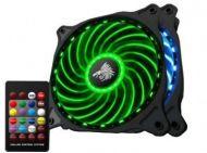 Kit RGB Eagle Warrior 2 Ventiladores ACLEDFANRING4EGW RGB 18 LED 7 Colores Control Remoto