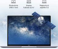 """KELVINC-WFE9B - Huawei MateBook 14 - Full HD 14"""" - Ci7-10510U, Mem. 16GB, 512GB SSD, Windows 10 Pro"""