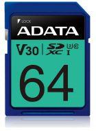 ASDX64GUI3V30S-R Tarjeta de Memoria SDXC ADATA 64GB Clase 10 UHS-I V30
