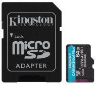 SDCG3/64GB Memoria MicroSDXC Kingston Technology Canvas Go! Plus 64GB Clase 10 UHS-I C/Adaptador