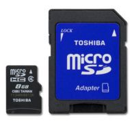 PFM008U-1DAK Memoria Micro SD Toshiba 8GB Clase 4 Con Adaptador