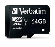 44084 Memoria Micro SDHC Verbatim 64GB Clase 10 Con Adaptador