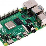 RPI4-MODBP-4GB Computadora de Tarjeta Raspberry Pi 4 Modelo B Socket BCM2711, 4GB RAM DDR4, USB 3.0, PoE Habilitado
