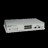 AT-GS950/8-10 Switch Allied Telesis - 8 Puertos Gigabit 10/100/1000Mbps + 2x 10GBE SFP - Administráble