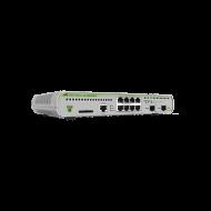 AT-GS970M/10-10 Switch Allied Telesis - 8 Puertos Gigabit 10/100/1000 Mbps + 2 Puertos SFP - Capa 3 Administráble