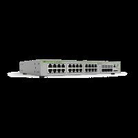 AT-GS970M/28PS-10 Switch Allied Telesis - 24 Puertos PoE Gigabit 10/100/1000 + 4 Puertos SFP - PoE Total de 370 Watts - Capa 3 Administráble